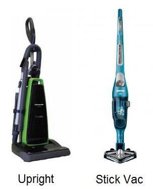 upright and stick vacuum