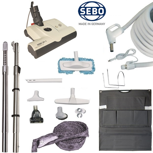 Ensemble accessoires aspirateur central sebo et 1 for Aspirateur sebo